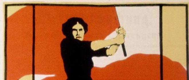 Affiche pour la Journée de la femme en Allemagne. Berlin, ALLEMAGNE - 08/03/1914