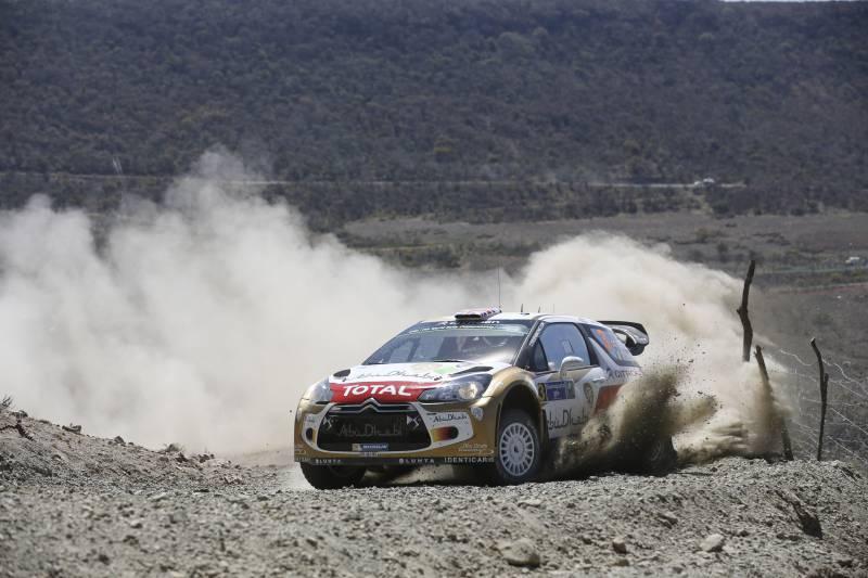 Chris Meek est le seul a être encore en course mais il est neuvième! ©  Citroën