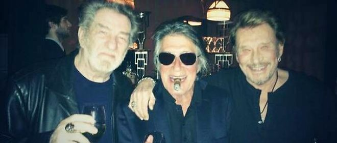 Eddy Mitchell, Jacques Dutronc et Johnny Hallyday.