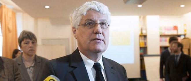 Philippe Martin dans les locaux d'Airparif.