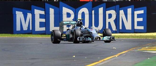 Nico Rosberg, parti troisième sur la grille de départ, a ensuite fait toute la course en tête au GP d'Australie.