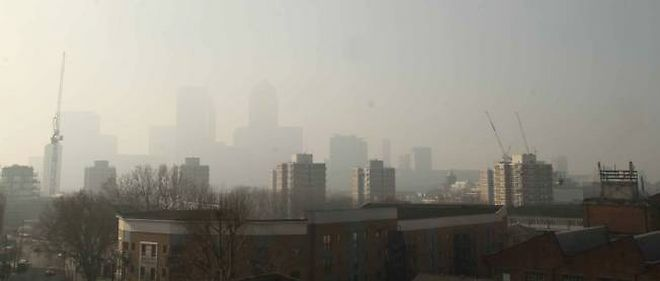 La pollution à Londres.