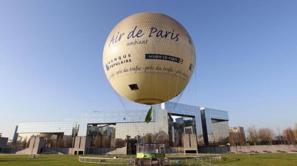 Un ballon pour surveiller la qualité de l'air mais aussi de nombreuses bornes au sol. ©  DR