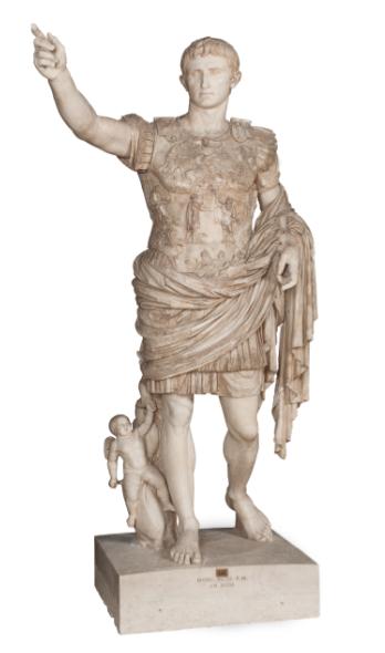 Auguste de Prima Porta (époque tibérienne) © Musées du Vatican, Cité du Vatican