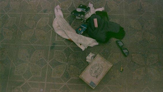Les objets retrouvés sur la scène du suicide ©  DR