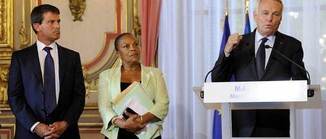 Manuel Valls, Christiane Taubira et Jean-Marc Ayrault, ici en 2013.