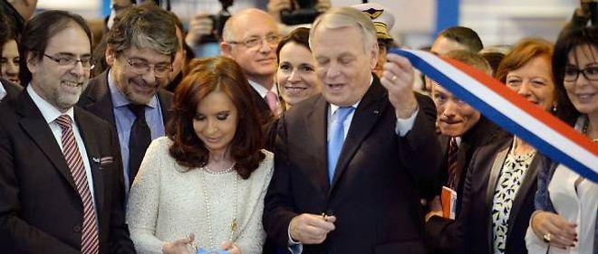 Le Salon du livre inauguré par Jean-Marc Ayrault et Cristina Kirchner