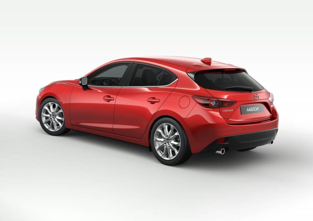 Mazda mettra bientôt sur le marché une future berline compacte essence hybride non rechargeable émettant moins de 50 g/km de CO2. ©  MAZDA