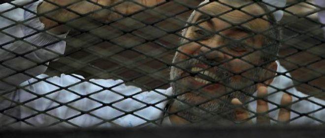 Un membre de la confrérie islamiste des Frères musulmans, lors de son procès le 6 mars dernier au Caire pour avoir bloqué une route.
