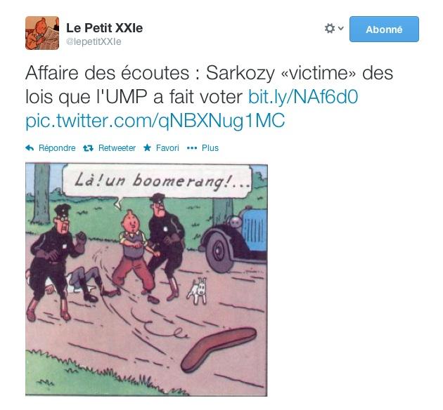 Les écoutes de Sarkozy ©  Petit XXIe