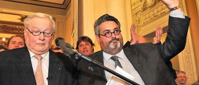 Le socialiste Olivier Bianchi (à droite) et le maire sortant Serge Godard.