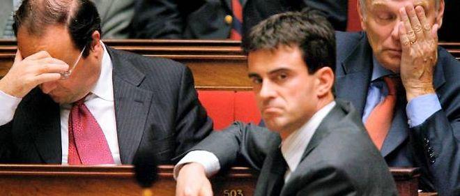 2006, à l'Assemblée, François Hollande est premier secrétaire du PS, Ayrault, président du groupe socialiste et Manuel Valls, simple député.