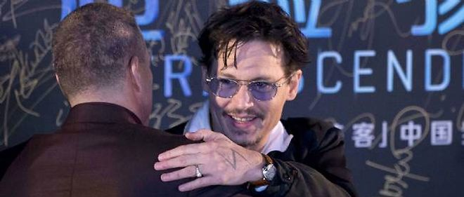 Johnny Depp, le 31 mars 2014 a Pekin, Chine