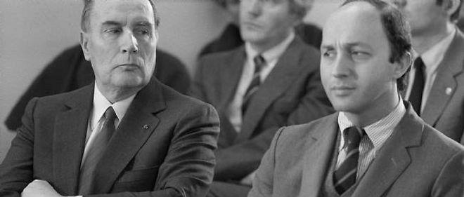 François Mitterrand et Laurent Fabius.