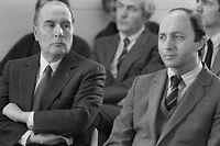 François Mitterrand et Laurent Fabius. ©Michel Clément