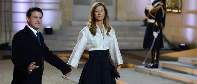 Anne Gravoin et Manuel Valls, au palais de l'Élysée, en mai 2012.
