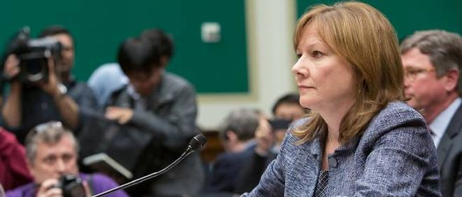 Mary Barra, patronne de General Motors, devant le Congres mardi.