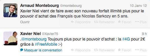 4G : passe d'armes entre Montebourg et Niel sur Twitter ©  DR