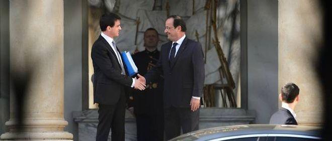 François Hollande et Manuel Valls, mercredi à l'Élysée. © Eric Feferberg / AFP