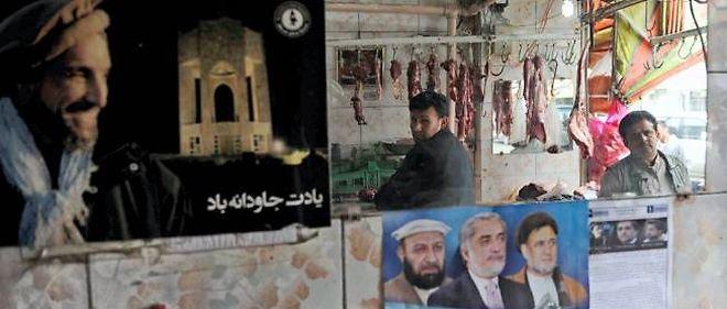 Affiches de candidats dans les rues de Kaboul, la capitale.