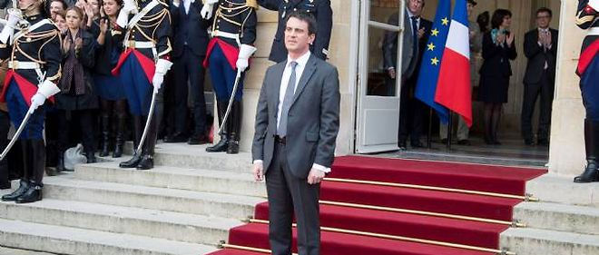 Passation des pouvoirs à l'Hôtel Matignon le 1er avril 2014.