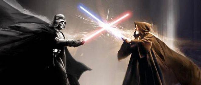 Le sabre laser, arme à l'identité visuelle et sonore légendaire.