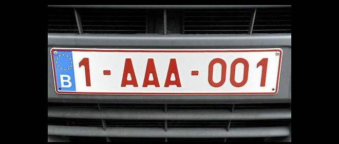 La Belgique S Offre Des Plaques D Immatriculation Personnalisées