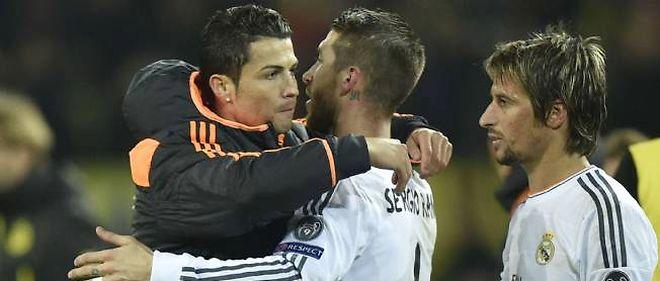 Cristiano Ronaldo et Sergio Ramos le 8 avril 2014 à Dortmund.