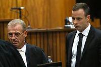 Le procureur Gerrie Nel a interrogé énergiquement Oscar Pistorius, mercredi. ©ALON SKUYI / POOL / AFP