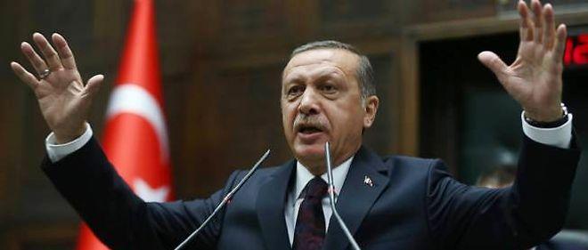 Le Premier ministre Erdogan, le 8 avril 2014, devant le Parlement turc à Ankara.