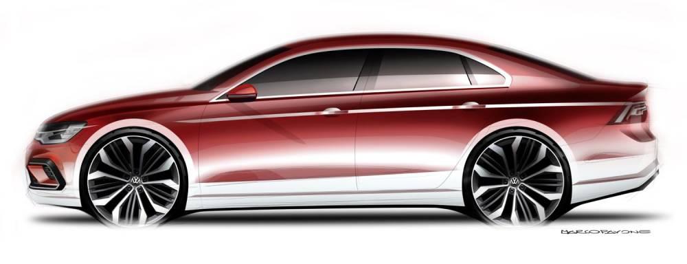 Le Midsize Coupé préfigure une berline plus basse et plus courte que l'actuelle Jetta. ©  VW