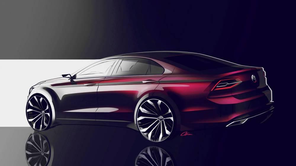 Sportif d'aspect, le Midsize Coupé ne renonce pas à l'aspect pratique avec un coffre de 500 litres. ©  VW