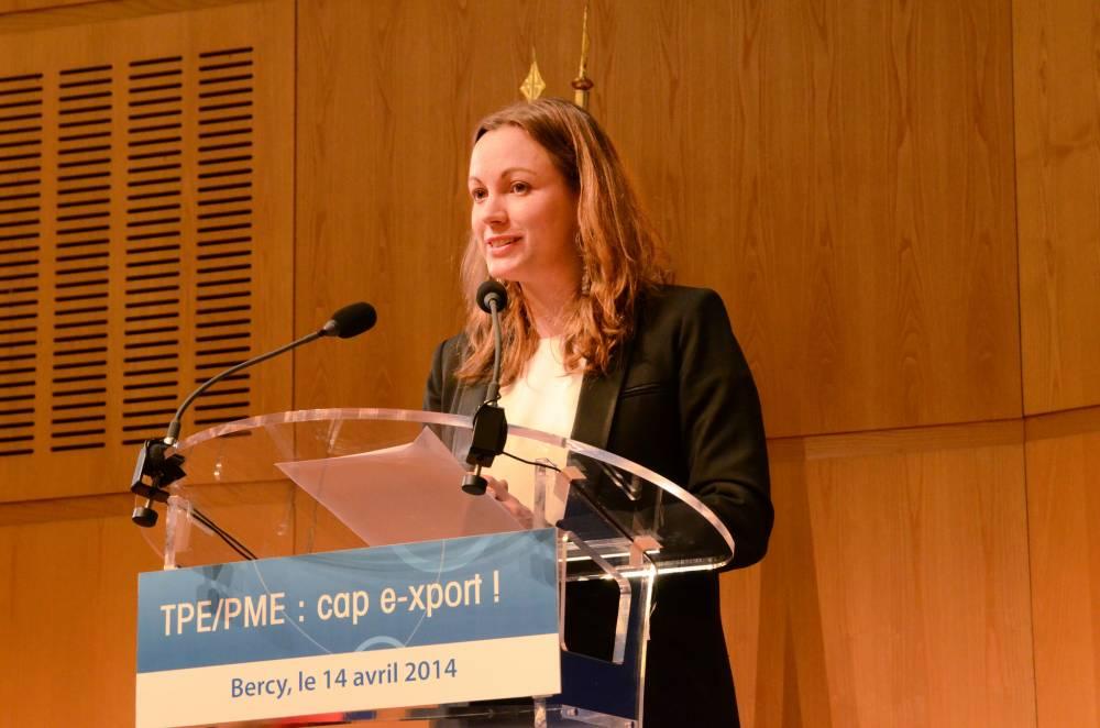 Axelle Lemaire lors de sa première prise de parole publique en tant que Secrétaire d'État, le 14 avril 2014. © Le Point.fr Guerric Poncet