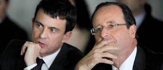 Manuel Valls et François Hollande. ©PATRICK KOVARIK / AFP