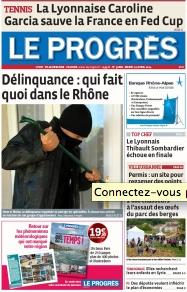 """La Une du """"Progrès"""" du 22 avril 2014 ©  DR"""