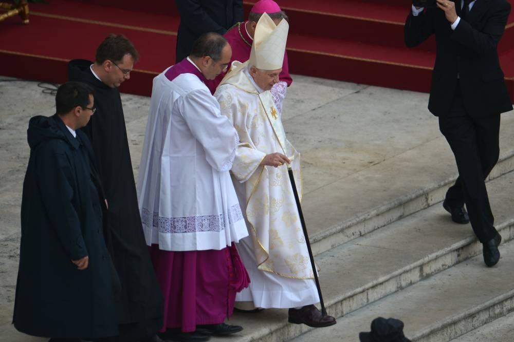 Arrivée du pape Benoît XVI © Vincenzo Pinto, AFP