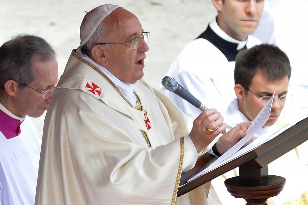 Le pape François dimanche matin © Andreas Solaro, AFP