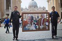 Photo prise samedi matin au Vatican. ©Michael Kappeler