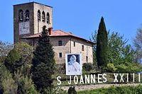 L'église du village de Sotto il Monte, village natale de Jean XXIII. ©Giuseppe Cacace / AFP