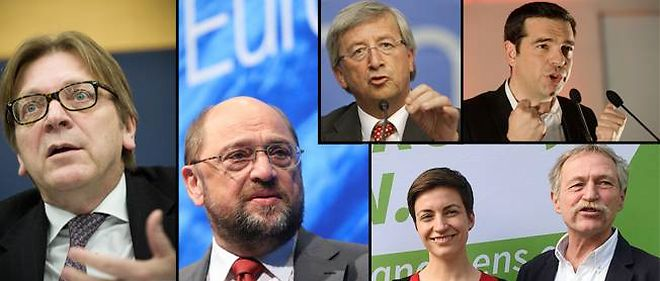 Les six candidats (dont un duo) pour la presidence de la Commission europeenne.