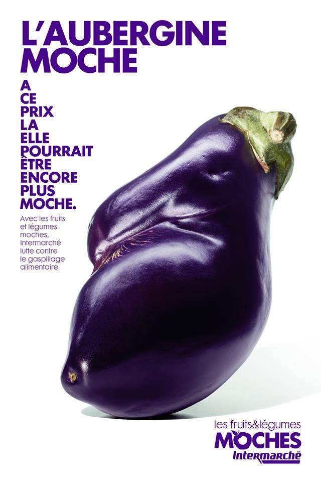 L'aubergine moche © Agence Marcel / Intermarché