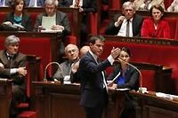 Le Premier ministre Manuel Valls devant l'Assemblée nationale. ©PATRICK KOVARIK / AFP