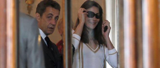 Nicolas Sarkozy et Carla Bruni-Sarkozy.