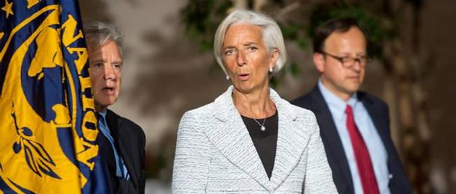 Christine Lagarde au siege du FMI a Washington le 30 avril 2014.