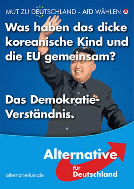 """L'Union européenne partage la même """" compréhension de la démocratie """" qu'"""" un enfant coréen rondouillard"""