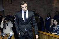 L'ex-champion paralympique Oscar Pistorius, lors de son procès (photo d'illustration). ©STEPHANE DE SAKUTIN
