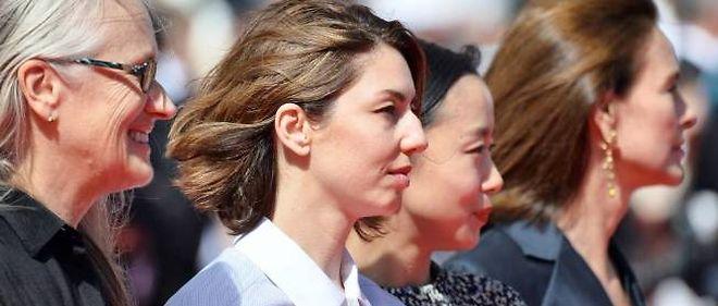 De gauche à droite : la présidente du jury 2014 Jane Campion, Sofia Coppola, Jeon Do-yeon et Carole Bouquet.