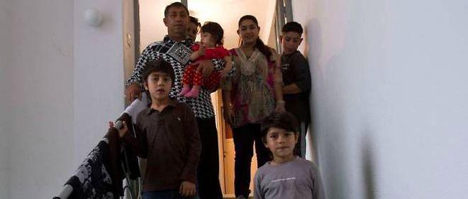 La famille Dibrani, ici à Mitrovica, au Kosovo, en 2013.