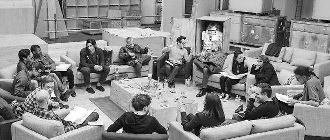 """""""Photo de famille"""" du prochain """"Star Wars""""."""