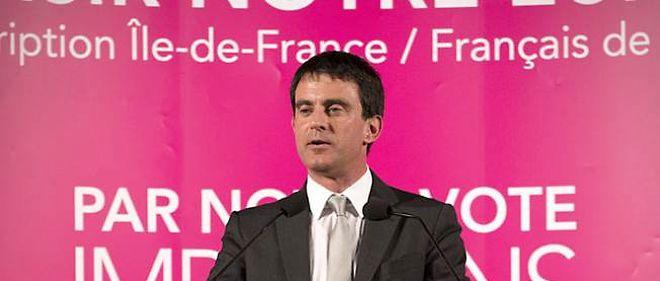 Manuel Valls en meeting pour les européennes dans son fief électoral d'Évry, le 19 mai 2014.